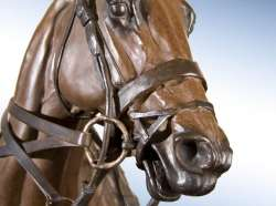 Rare & Grand Handsome Polo Bronze- Power Player, Courtesy of Chisholm Gallery, LLC
